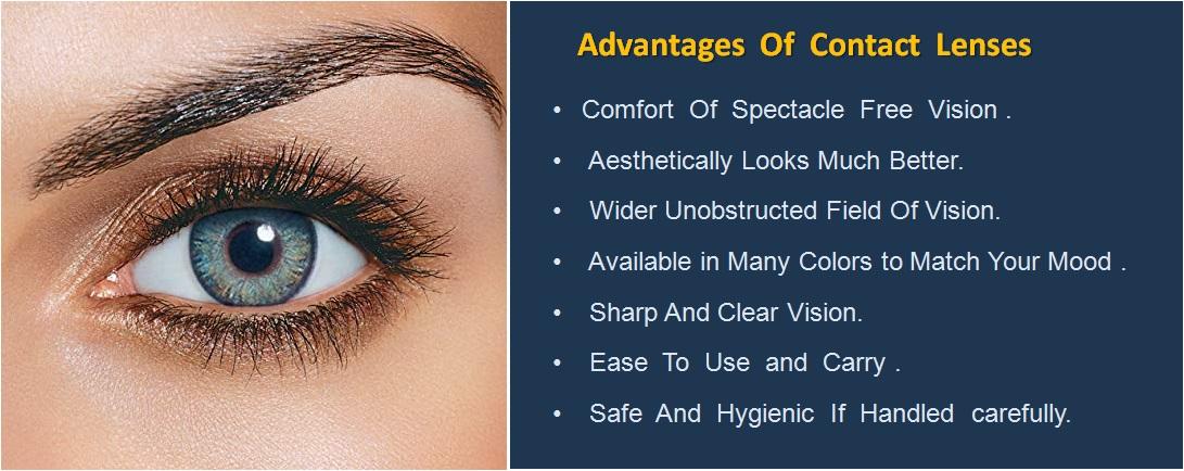 Advantages Of Contact Lenses